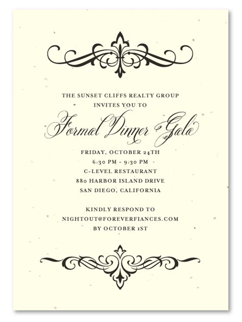 invitations event planning dinner invitations holiday