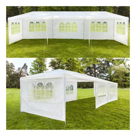 chapiteau 3x9 m tente tonnelle de r 233 ception blanche sans cot 233 12389 jardin piscine