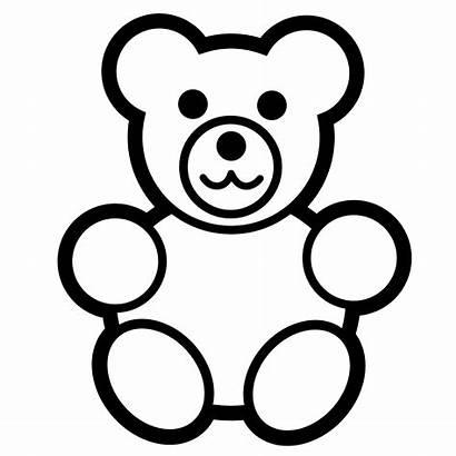Clipart Line Numbers Animal Bear Christmas Teddy