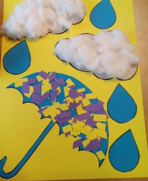 umbrella  cloud craft preschool  homeschool
