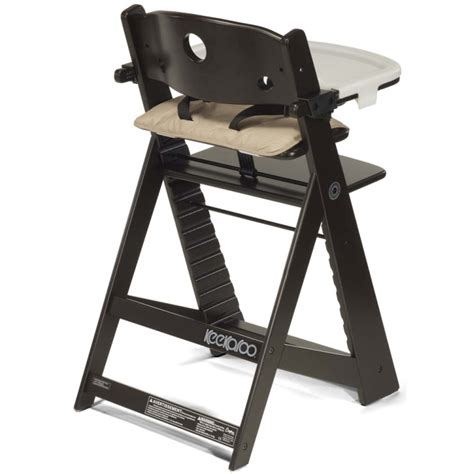 keekaroo height right high chair with tray espresso n cribs