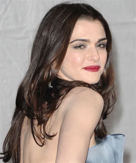 Rachel Weisz Long Straight Formal Hairstyle   Dark