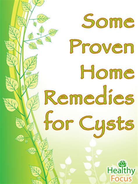 13 Proven Natural Home Remedies For Cysts Updated 2018