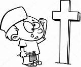 Memorial Cartoon Boy Crying Grave Coloring Soldiers Kleurplaat Graf Huilen Soldier Jongen Soldaten Bij Drawing Een Outlined Depositphotos Tekenfilm Overzicht sketch template