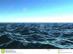 Dark Blue Ocean With Beautifu Royalty Free Stock ...