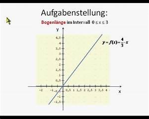 Bogenlänge Einer Kurve Berechnen : integralrechnung bogenl nge einer kurve 2 mathematik online lernen ~ Themetempest.com Abrechnung