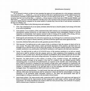 7 mortgage commitment letter templates to download With loan commitment letter template