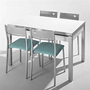 Petite Table Avec Rallonge : petite table de cuisine en m lamin avec allonges et tiroir pieds alu iris 4 ~ Teatrodelosmanantiales.com Idées de Décoration