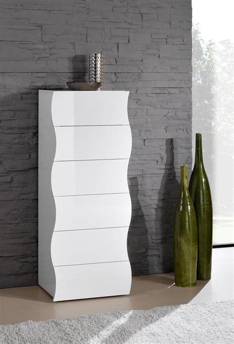chiffonnier design laqu 233 blanc 6 tiroirs onida chiffonnier chambre adulte chambre