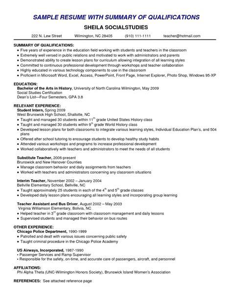 relevant experience resume exles