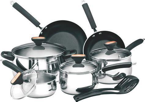 cookware piece stainless steel woll stick non diamond deen paula