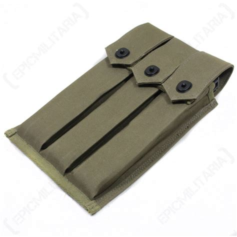 reproduction us army m3 smg grease gun three mag pouch ammo airsoft surplus ebay