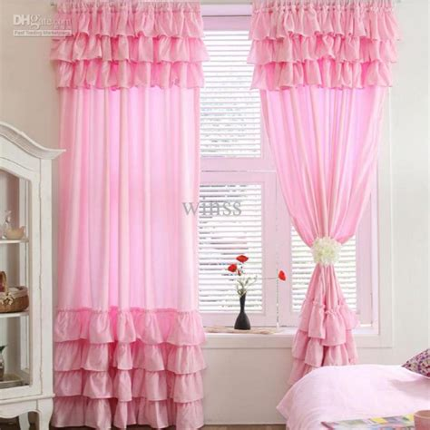 Beautiful Curtains For Living Room With Pink Color For