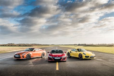 Nsx Curb Weight by Acura Nsx Vs Porsche 911 Turbo Vs Nissan Gtr Which Is