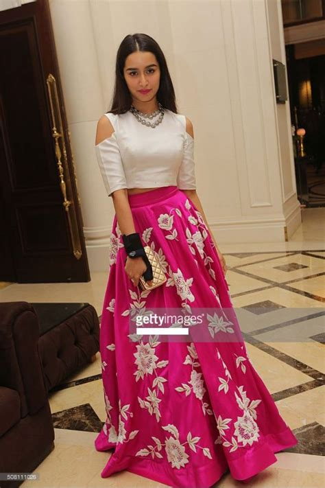 bollywood replica shraddha kapoor pink white party
