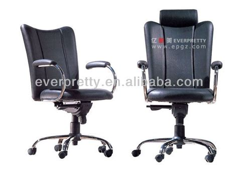cheap rolling black reception office chairs with neck