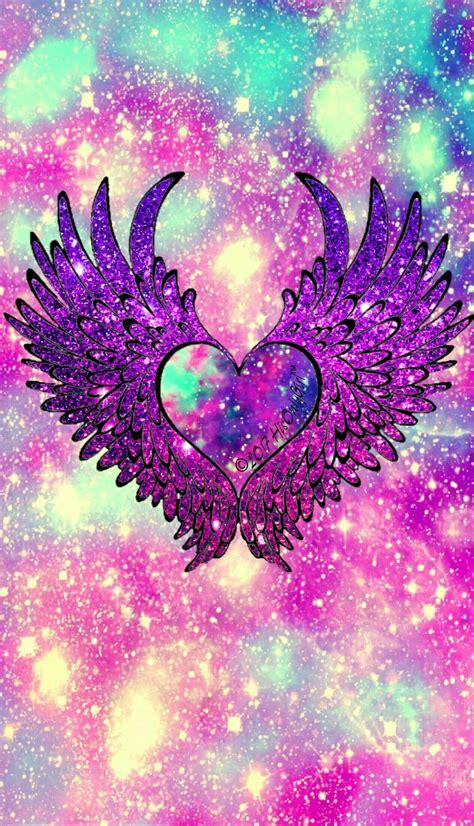 angel heart wings galaxy wallpaper  created   app