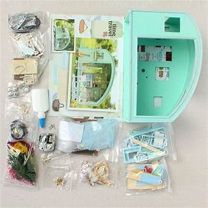 Diy Wooden Dollhouse Miniature Kit Doll House Led Music