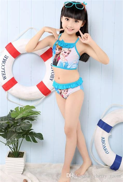 froze baby girls swimsuit summer elsa anna printed