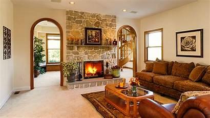 Living Fireplace Sofa Interior Sitting Lounge 1080