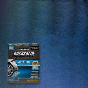 rust oleum rocksolid 70 oz metallic brilliant blue garage floor kit of 2 299745 the