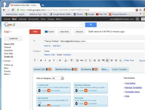 How To Create An Email Template In Gmail by Gmail Templates Beepmunk