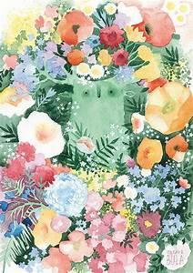 toujours fleur impression a4 a3 animal affiche fleurs With affiche chambre bébé avec fleurs Ï bouquet