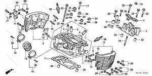 Honda Motorcycle 2003 Oem Parts Diagram For Cylinder Head