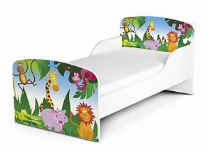 Kinderbett Matratze 140x70 : kinderbett 140x70 cm mit matratze thema dschungel tiere ii ~ Frokenaadalensverden.com Haus und Dekorationen