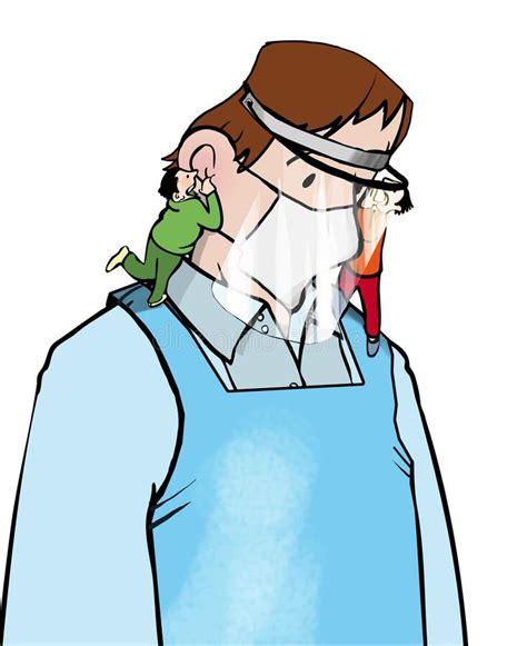doctor jab stock vector illustration  vaccination