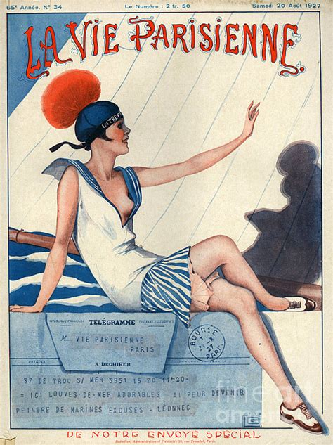 1920s france la vie parisienne magazine print by the