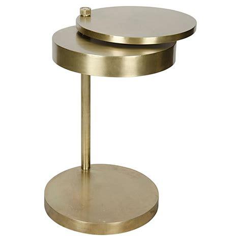 antique brass side table aston modern antique brass revolving circular discs side
