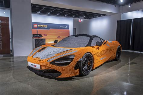 It looks like the real thing. Full-size Lego McLaren 720S graces Petersen Automotive Museum