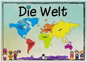 Weltkarte Kontinente Kinder : ideenreise themenplakat kontinente die welt ~ A.2002-acura-tl-radio.info Haus und Dekorationen