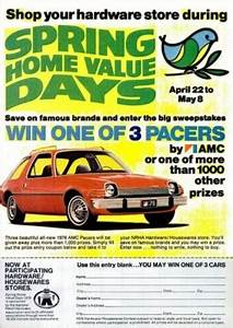Daily 70s Ad: AMC Pacer Give-Away (1976) | Bionic Disco