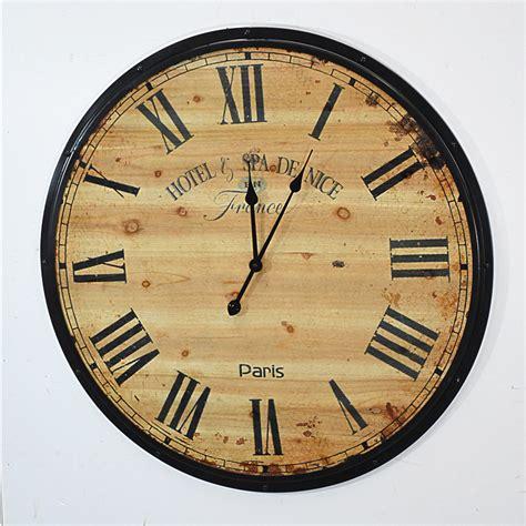 handmade oversized retro rustic decorative wooden wall clock  gift buy wooden wall clock