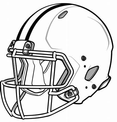 Coloring Football Pages Helmet Trendy Helmets