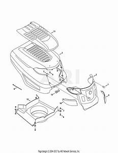 Troy Bilt 13wqa2kq011 Super Bronco 50  2015  Parts Diagram For Hood