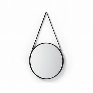 Miroir Rond Cuir : miroir rond m tal et cuir raintree par ~ Teatrodelosmanantiales.com Idées de Décoration