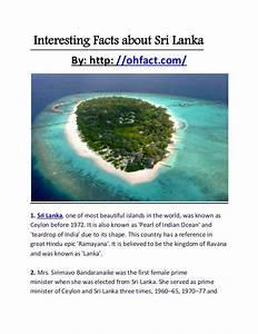 Interesting facts about sri lanka