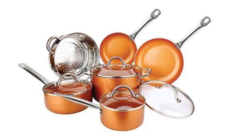 piece copper luxury cookware pan set   stick induction pan set  ebay