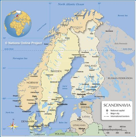 political map  scandinavia nations  project