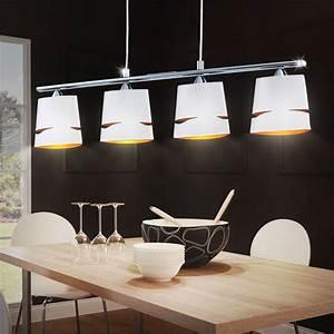 Suspension Luminaire Blanc : lustre suspension luminaire plafond clairage plafonnier ~ Teatrodelosmanantiales.com Idées de Décoration