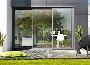 Baie Vitree A Galandage 2 Vantaux : baie coulissants aluminium 3 rails baie vitree galandage ~ Edinachiropracticcenter.com Idées de Décoration