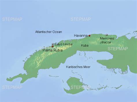 badehotel cayo levisa von millerreisen landkarte fuer kuba