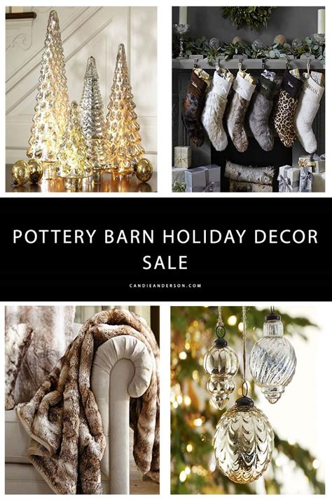 pottery barn christmas decorations mercury home decor