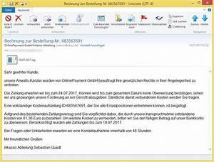 Kunde Zahlt Rechnung Nicht : rechnung zur bestellung nr 683567691 von onlinepayment gmbh inkasso abteilung admin ~ Themetempest.com Abrechnung