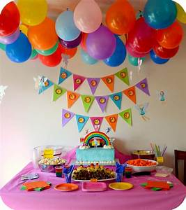 Rainbow Party Decorations to Cheer up Kid's Party Home