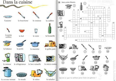 mots croisés de la cuisine a1 le français avec des jeux