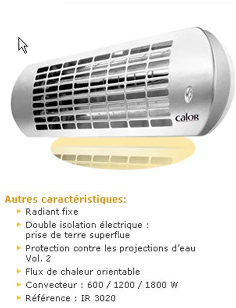 chauffage 233 lectrique radiant de salle de bain